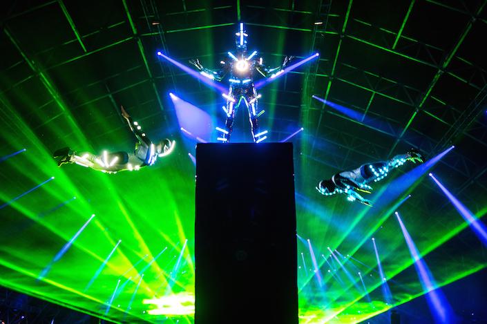 laser trampwall